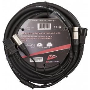AUDIO COMBI CABLE IEC/XLR-20M