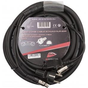 AUDIO COMBI CABLE SCHUKO/XLR-20M